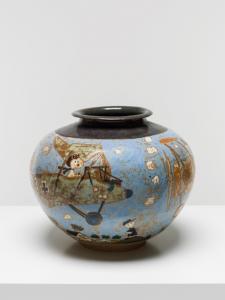 <i>snoopy</i>, 1991 </br> glazed stoneware, 36 x 36 x 36 cm / 14.1 x 14.1 x 14.1 in