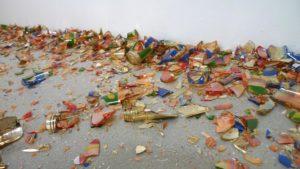 <i>erratum</i>, 2004 </br> broken glass, variable dimensions </br> installation view, moma ps1, new york