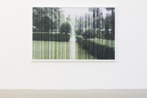 a rainy day transfiguration of laura, 2012, layered cut-outs photographs, 114 x 165 cm / 44.9 x 65 in