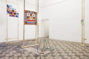 <i>from down, from up and in between</i>, 2013  </br> installation view, fondazione morra greco, naples