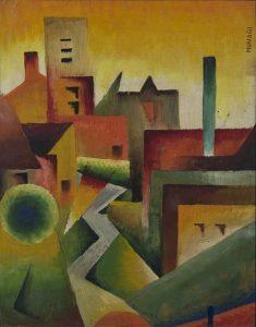 paesaggio (landscape), 1927-32, oil on pressed wood