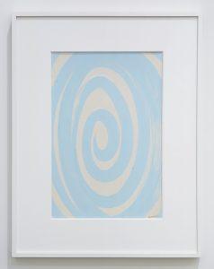 <i>spirale azzurra (light blue spiral)</i>, 1938 </br> mixed media on paper, 40 x 27 cm / 15.7 x 10.6 in