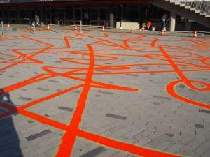 <i>a line</i>, 2018  </br> installation view, scandinavium arena, göteborg