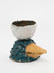<i>untitled</i>, 2017 </br> glazed ceramic, 11,4 x 10,7 x 13,3 cm / 4.5 x 4.2x 5.2 in
