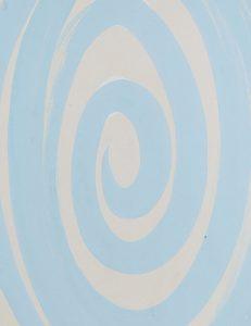 <i>spirale azzurra (light blue spiral)</i>, 1938 </br> (detail)