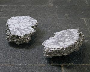 <i>cosa (thing)</i>, 2006 </br> aluminum, talcum powder,  51 x 41 x 20 cm / 20.1 x 16.1 x 7.9 in