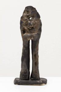 <i>standing man</i>, 2012 </br> glazed stoneware, 32 x 13 x 9 cm / 12.5 x 5.1 x  3.5 in