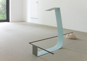 <i>historical mood</i>, 2010 </br> painted steel and ceramic, 91 x 170 x 89 cm / 35.8 x 66.9 x 35 in