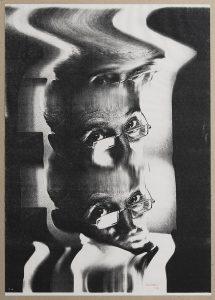 autoritratto (self-portrait), 1990, xerography, 42 x 29,5 cm / 16.5 x 11.6 in