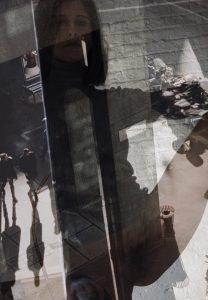 <i>street self-portrait #2</i>, 2015 </br> digital c-print, 35,5 x 28 cm / 14 x 11 in