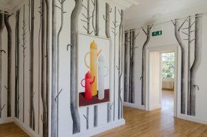 <i>boys and pastel</i>, 2015 </br> installation view, inverleith house, royal botanic garden, edinburgh