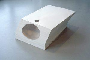 <i>solamente</i>, 2001 </br> paper, 100 x 70 x 40 cm / 39.4 x 27.5 x 15.7 in