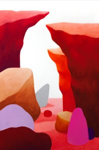 <i>landscape</i>, 2015 </br> pastel on canvas, 150 x 100 cm / 59 x 39.4 in