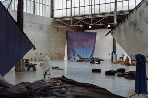 Latifa Echakhch, The sun and the set, installation view, BPS22  Charleroi, 2020