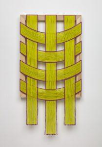 <i>untitled</I>, 2020 </br> Oil on canvas on poplar, 88,9 x 45,7 x 3,8 cm / 35 x 18 x 1.5 in