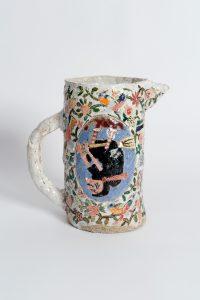 <i>untitled</i>, 2002 </br> glazed ceramic, 17,1 x 16,5 x 8,6 cm / 6.8 x 6.5 x 3.4 in