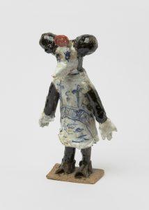 <i>untitled</i>, 2020 </br> glazed ceramic, 23,5 x 12,7 x 8,8 cm / 9.1 x 5 x 3.1 in