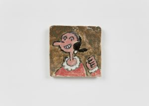 <i>untitled</i>, 2021 </br> glazed ceramic, 7,9 x 7,9 cm / 3.1 x 3.1 in