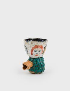 <i>untitled</i>, 2020 </br> glazed ceramic, 14,5 x 12,7 x 10,2 cm / 5.8 x 5 x 4 in