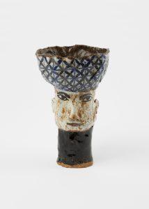 <i>untitled</i>, 2003 </br> glazed ceramic, 19,7 x 12,7 x 12,1 cm / 7.8 x 5 x 4.8 in