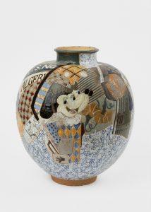 <i>untitled</i>, 1989 </br> glazed ceramic, 43,2 x 35,6 x 35,6 cm / 17 x 14 x 14 in