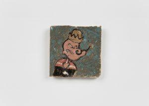 <i>untitled</i>, 2020 </br> glazed ceramic, 7,9 x 7,9 cm / 3.1 x 3.1 in