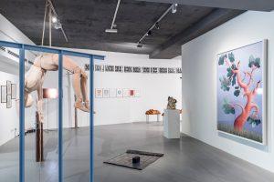 <i>–a breath? a name?–the ways of worldmaking</i>, 2020 </br> installation view, sala trenker, BIENNALE GHERDËINA 7, ortisei