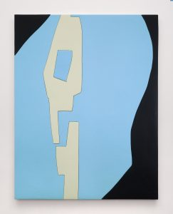 <i>Untitled, Blow Up 43</I>, 2020 </br> wood, aqua resin, casein, and acrylic gouache </br> 149,8 x 116,8 x 4,4 cm / 58.9 x 45.9 x 1.7 in