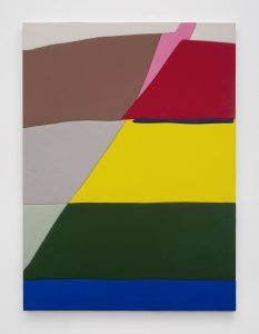 <i>Untitled, Blow Up 36</I>, 2020 </br> wood, aqua resin, casein, and acrylic gouache </br> 149,9 x 109,9 x 4,5 cm / 59 x 43.3 x 1.8 in