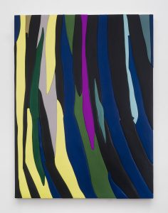 <i>Untitled, Blow Up 39</I>, 2020 </br> wood, aqua resin, casein, and acrylic gouache </br> 149,9 x 111,8 x 4,5 cm / 59 x 44 x 1.8 in