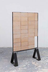 Simone Fattal, <I>Wall</I>, 2021 </br> glazed stoneware</br> 128 x 100 x 3,5 cm / 50.3 x 39.3 x 1.3 in