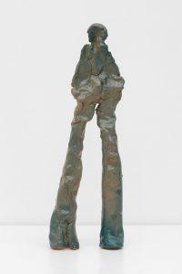 Simone Fattal, <I>Herald II</I>, 2021 </br> glazed stoneware</br> 36 x 12,5 x 5 cm / 14.1 x 4.9 x 1.9