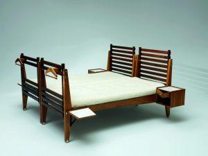 <i>double bed for casa del sole</i>, 1953</br>75 x 200 x 195 cm / 29.5 x 78.7 x 76.8 in