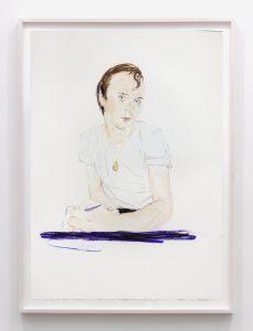 <I>rene, June 1979</i>, 2016 </br> pastel on paper, 108 x 76,2 cm / 42.5 x 30 in