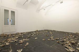 <i>my falls</i>, 2008  </br>  installation view, Francesca kaufmann gallery, milan