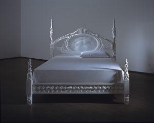 <i>ghost</i>, 2006  </br> corian, 140 x 201 x 201 cm / 55.1 x 79.1 x 79.1 in