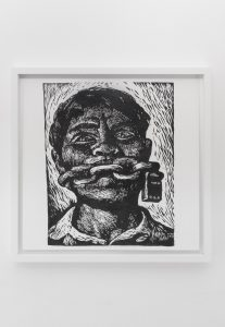 <i>made in u.s.a. (la raza, vol iv, no. 2, december 1968, l.a. cover page)</i>, 2015</br>graphite on paper</br>42,5 x 43 cm / 16.7 x 16.9 in