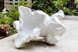 <i>duarte</i>, 2017  </br> marble, 83 x 125 x 113 cm / 32.7 x 49.2 x 44.5 in
