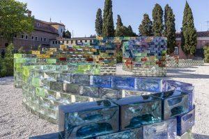 <i>qwalala</i>, 2017  </br> installation view, le stanze del vetro - fondazione cini, venice