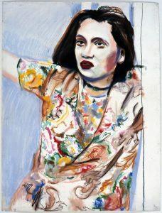 <i>vi #1</i>, 1972 </br> pastel on paper, 116,8 x 88,9 cm / 34 x 23 in