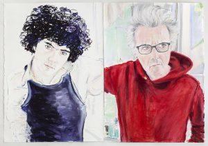 <i>Double Self-Portrait in Lockdown, 1968/2020</i>, 2020 </br> pastel on paper, each: 76,8 x 54,6 cm / 30.3 x 21.5 in