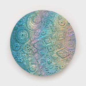 <i>Pale Brony</i>, 2020 </br> Ceramic with particle vapor deposition coating, ø 58 cm / ø 23 in