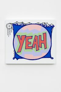 <i>Yeah</i>, 2019 </br> acrylic on canvas, 37 x 41,5 x 4 cm / 14.6 x 16.3 x 1.6 in