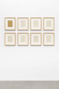 Adrian Paci, <i>Bukurshkrimi</i>, 2019 </br> 8 prints on paper, each: 39 x 33,5 x 5 cm / 15.4 x 13.2 x 2 in (framed)