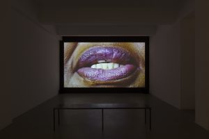 Candice Breitz, <i>Sweat</i>, 2018 </br> single-channel video, colour, sound, loop, approx. 25'