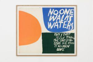 no one walks waters, 1965, screenprint, 81 x 97 x 3 cm / 31.9 x 38.2 x 1.2 in (framed)