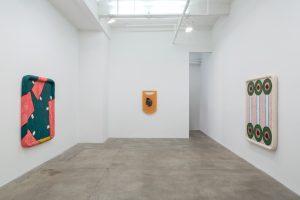 <i>hubris, pubis, scatis</i>, 2018</br>installation view, kaufmann repetto, new york