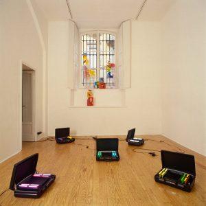 pae white, installation view, francesca kaufmann, milan, 2001