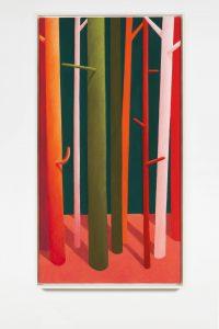 nicolas party, trees, 2015 pastel on canvas, 150 x 80 cm