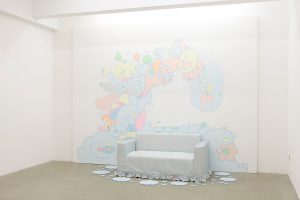 lily van der stokker, delicious, 2012 mixed media, installation size: 360 x 278 x 130 cm